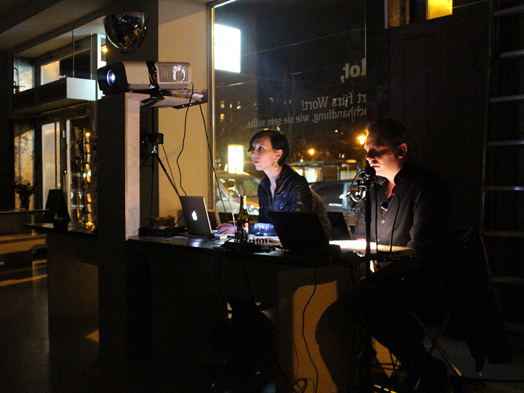 Liveperformance: Andrea Schmidt & Johannes Frank